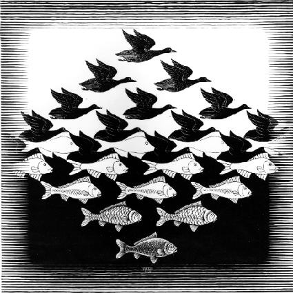 Escher-metamorphosis